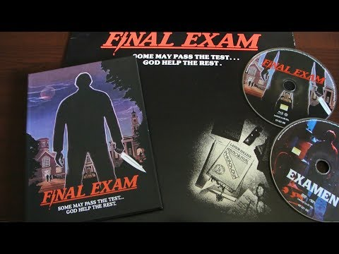 FINAL EXAM - Examen Blu-Ray/DVD Mediabook Shock Entertainment Unboxing Slasher 80s streaming vf