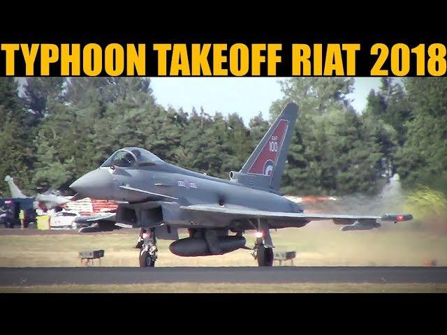 RAF Typhoon Takeoff | RIAT 2018