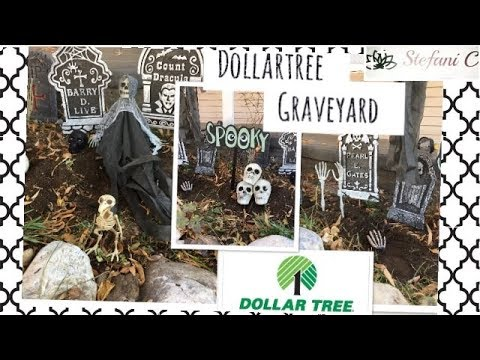 DIY Dollartree Graveyard—Dollartree Halloween