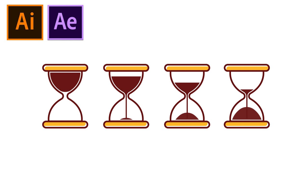 How to Create and Animate Loading Sand Timer Animation in After Effects Tutorial