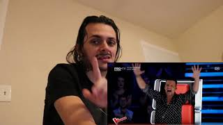 Bogdan Ioan Earth song at The voice Romania 2018 Reaction