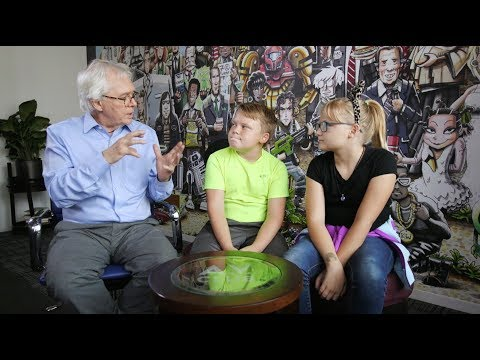 Arthur creator Marc Brown shares words of wisdom with two A.V. Club kids