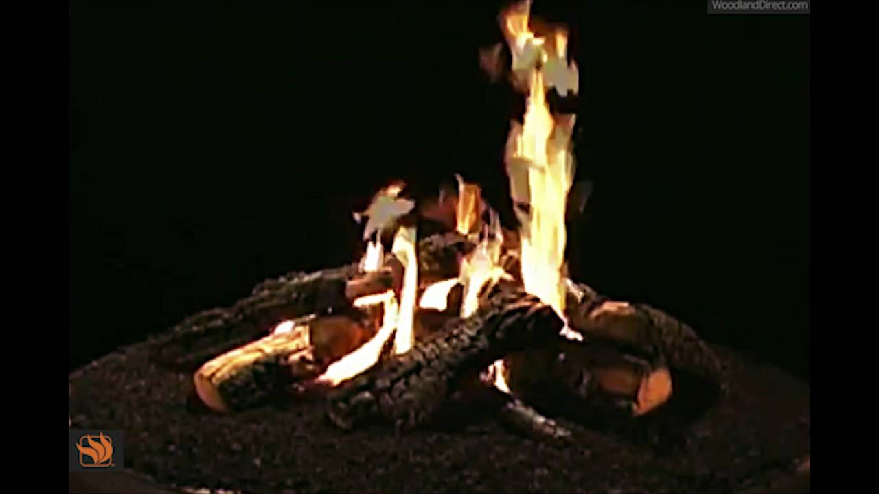 wilderness charred outdoor gas fire pit logs youtube