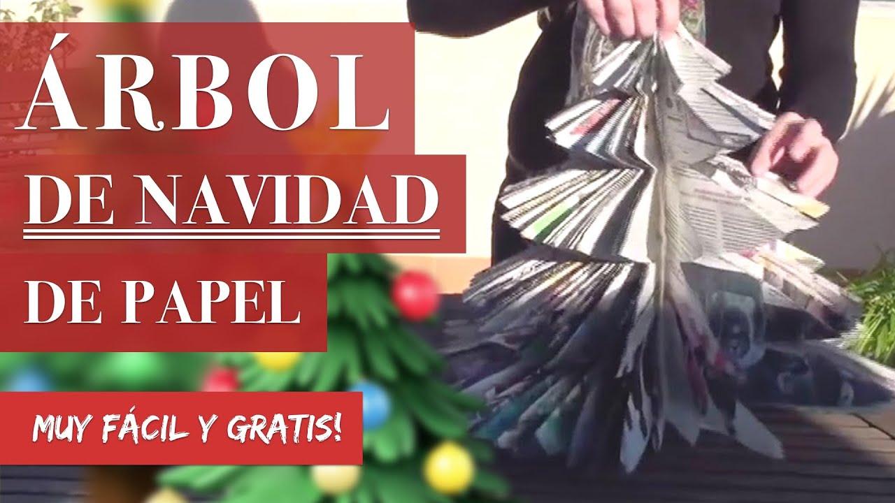 C mo hacer un rbol de navidad con papel reciclado for Arbol de navidad mural