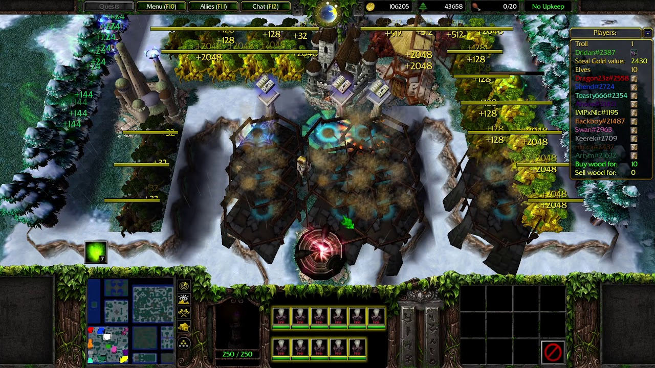 Warcraft 3: Reforged | #39 | Troll and Elves 2020 x4 0.25 ...