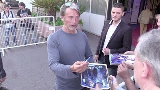 EXCLUSIVE - Mads Mikkelsen giving some love to his fans at the Cannes Film Festival 2016.