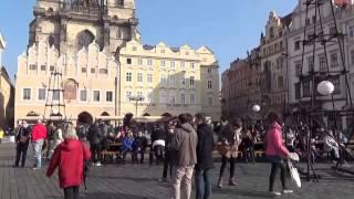 Староместская площадь — Прага (Чехия), март 2014(Староместская площадь находится в самом центре Праги. Здесь всегда многолюдно и весело. В городе проходил..., 2015-06-03T14:32:25.000Z)