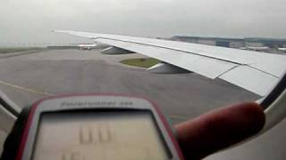 Air Canada Boeing 777-200LR takeoff and climb from Hong Kong (with altitude)