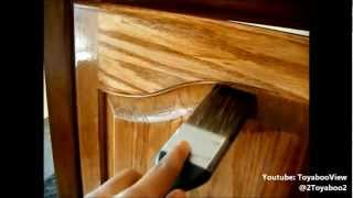 Diy Sanding And Staining My Entertainment Center