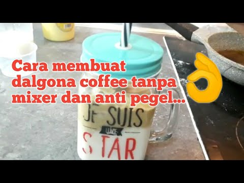 Tips membuat dalgona coffee tanpa mixer dan anti pegel ...