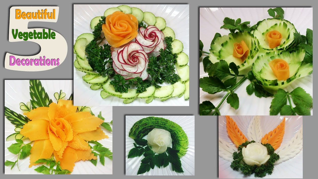 5 Beautiful Vegetable Decorations You Really Need to See