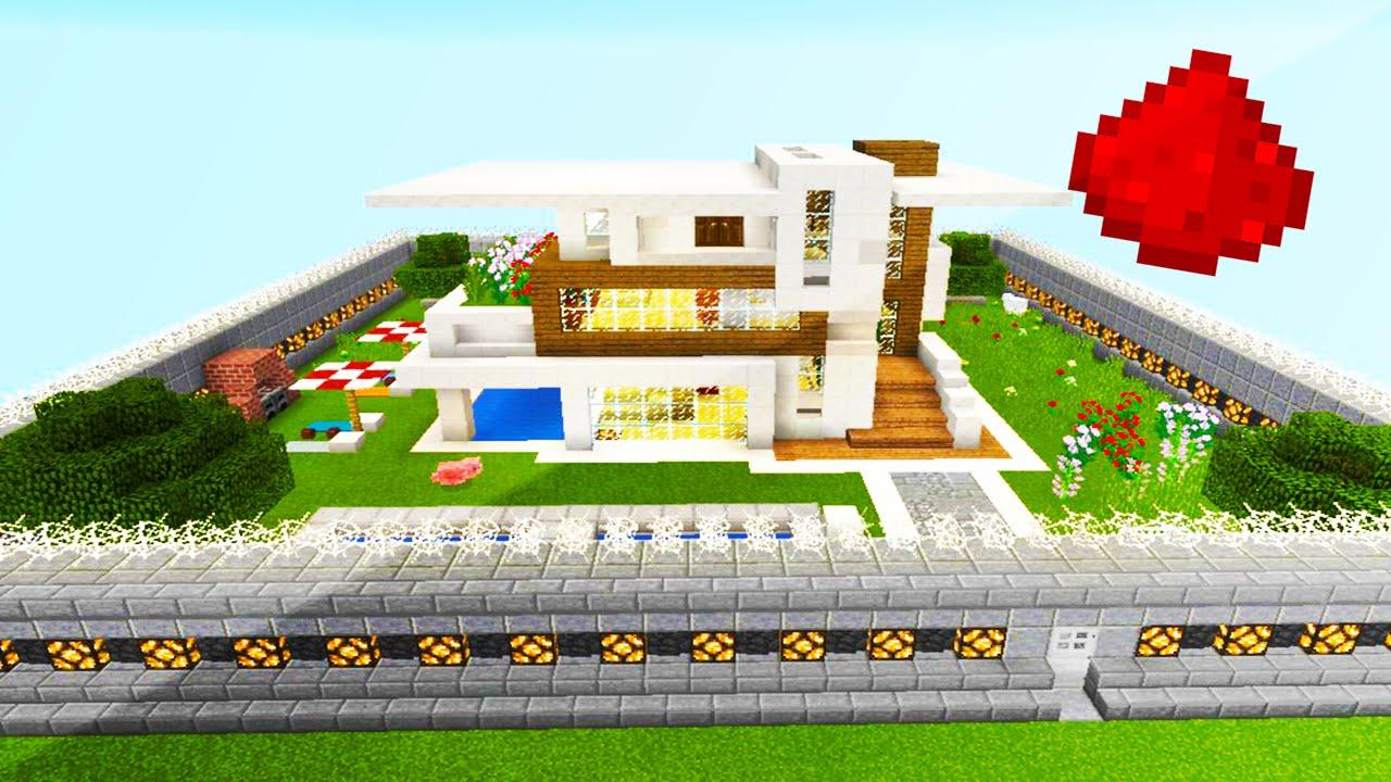 MCPE REDSTONE HOUSE (20+ Redstone Creations) by Twiistz