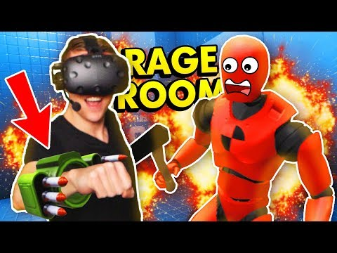 INSANE ROCKET LAUNCHER IN RAGE ROOM VR (Rage Room Virtual Reality HTC Vive Funny Gameplay)
