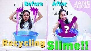 RECYCLING OLD SLIME   memperbaiki slime yang rusak jadi keren !!