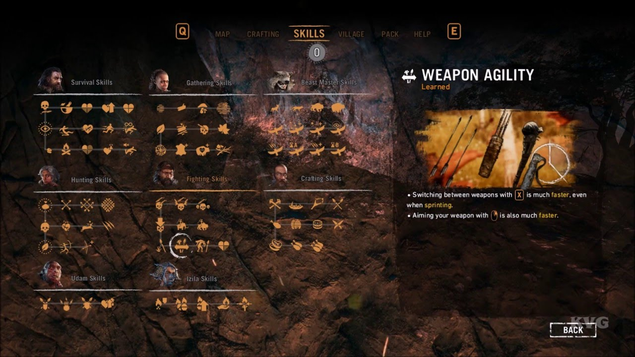 Far Cry Primal All Skills List Pc Hd 1080p60fps Youtube