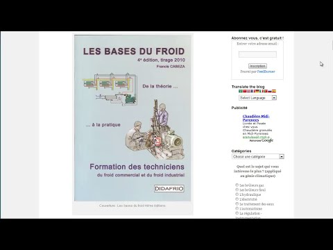 Livres - Les bases du froid 4e �dition de Francis Cabeza - Didafrio