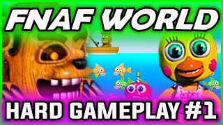 FNAF World Gameplay HARD FIXED PARTY Part 1 | Secret Tips | FNAF World Walkthrough Part 1