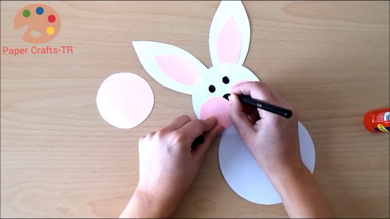easy paper bunny craft rabbit craft for preschool 4371