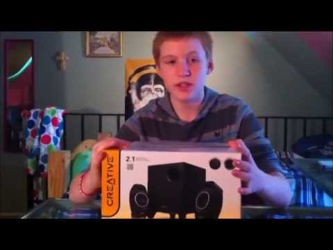 creative a250 speaker unboxing review and bass test YouTube