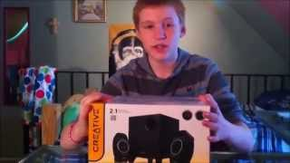 creative a250 speaker unboxing, review, and bass test