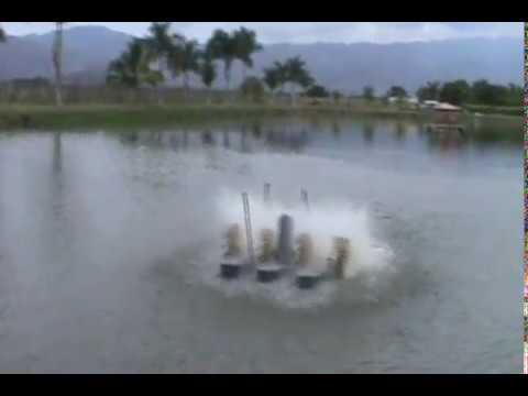 Oxigenador aireador para lagos youtube for Cria de mojarra en estanques