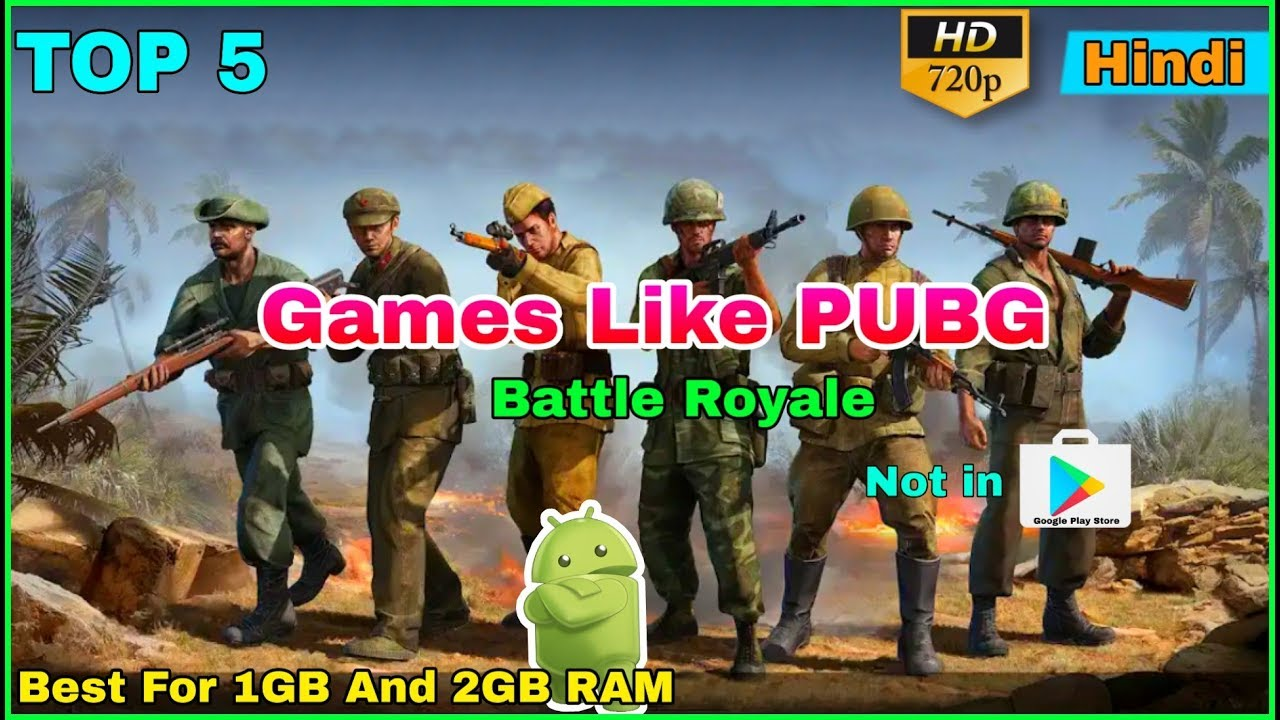 5 Games Like PUBG MOBILE Not Available On Play Store