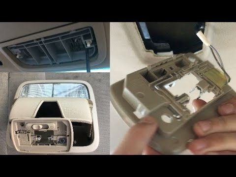 How to replace bulb interior dome map light remove - Honda accord interior light bulb replacement ...
