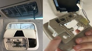 How To Replace Bulb Interior Dome Map Light & Remove Overhead Lamp Housing Assembly Honda Accord