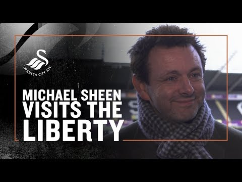 Michael Sheen visits The Swans