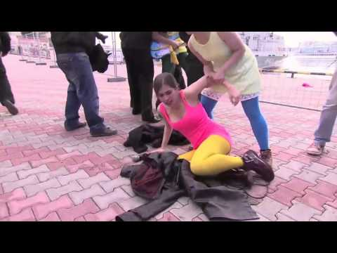 Pussy Riot Flogged by Cossacks in Sochi