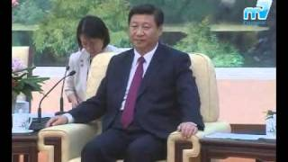 H.E. V.P. Kalonzo Musyoka met H.E. V.P. Xi Jinping of China.