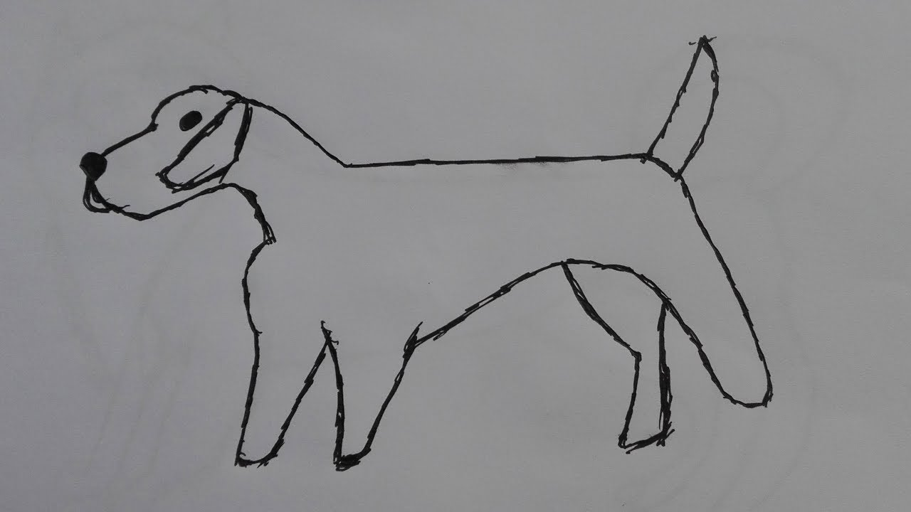 Line Drawing Fox : How to draw a fox terrier step by