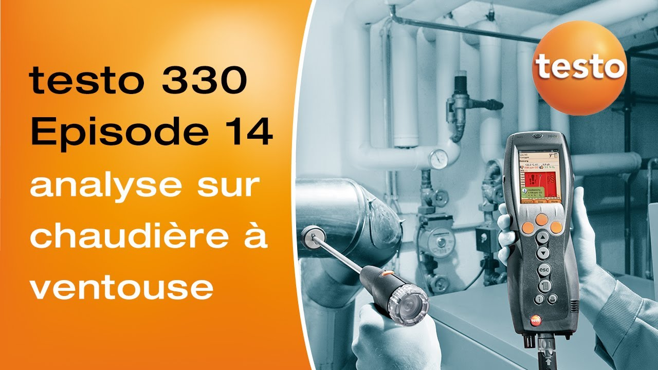 analyse de combustion sur une chaudi re ventouse avec un analyseur de combustion testo 330 youtube. Black Bedroom Furniture Sets. Home Design Ideas