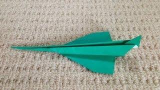 折り紙 良く飛ぶ 紙飛行機  折り方 作り方