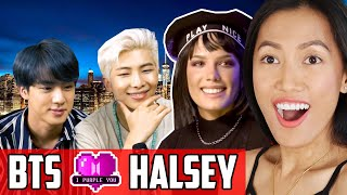Download BTS - iHeart Live Interview Reaction | Halsey Surprises The Bangtan Boys! Mp3 and Videos