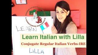 🇮🇹Learn Italian with Lilla- Conjugate Regular Italian Verbs ending in IRE🇮🇹
