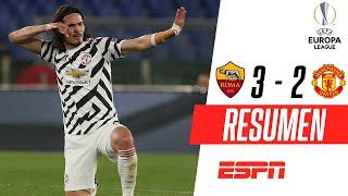 ¡DOBLETE DE CAVANI Y A LA FINAL DE LA EUROPA LEAGUE! | Roma 3-2 Manchester United | RESUMEN