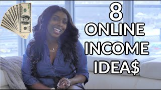 Hey friends! in this video, i talk about 8 ideas and examples of some ways to make money online through jobs side hustles that you can start today. if yo...