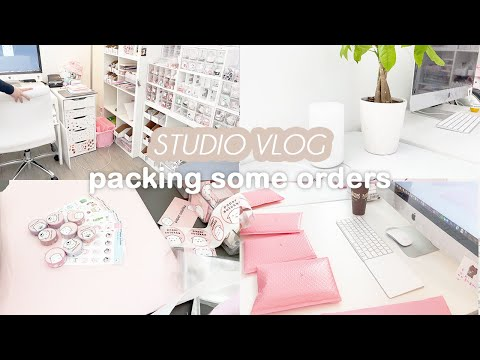 Studio Vlog | Packing Orders For My Small Business 📦💗 New Business Cards