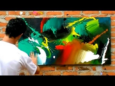 Abstract Texture To Oil Painting Youtube