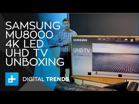 Samsung MU8000 LED 4K UHD TV - Unboxing