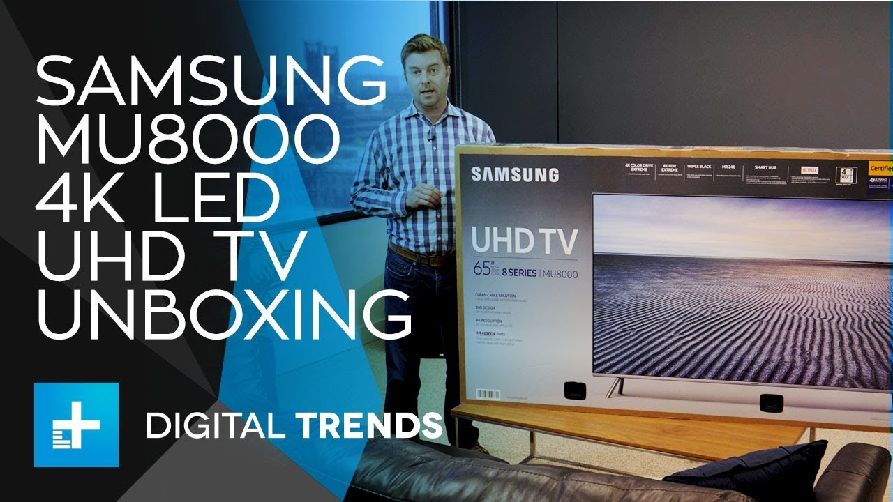 Samsung Mu8000 Led 4k Uhd Tv Unboxing Youtube Home Theater Cable Box Wiring Diagram