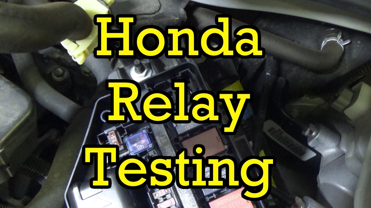 Honda Relay Testing Youtube Hvac Wiring Diagram For 2004 Accord Lx