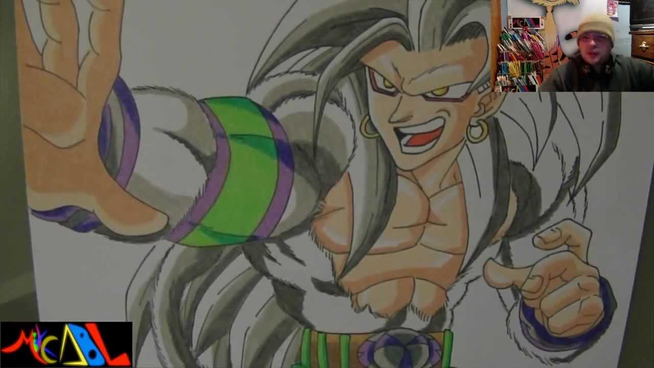 Dibujando a Goku SSJ5  YouTube