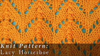 Lacy Horseshoes { Knit }