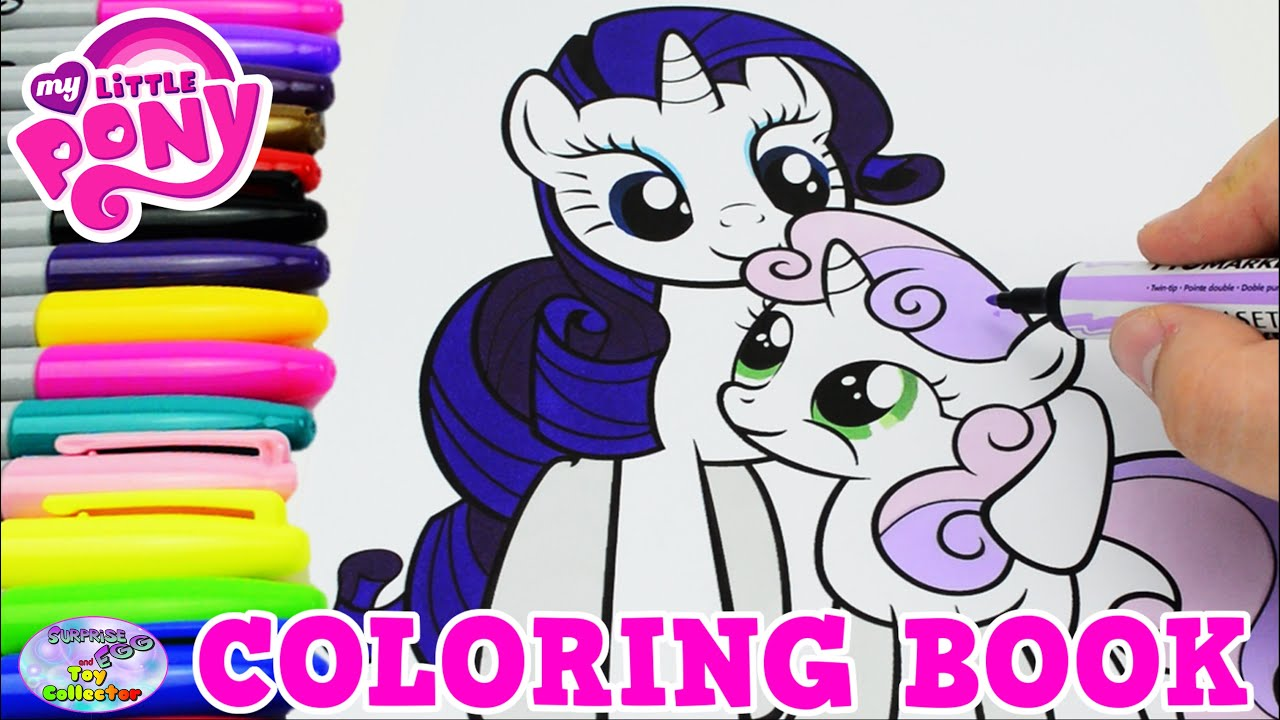 My Little Pony Coloring Book Mlp Rarity Sweetie Belle Episode