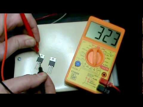 Prueba de MOSFET con multimetro digital