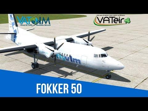 [VATSIM Flight] FlyVLM - London City to Antwerp [Carenado Fokker 50] [P3Dv4] Live Stream 23/02/2018