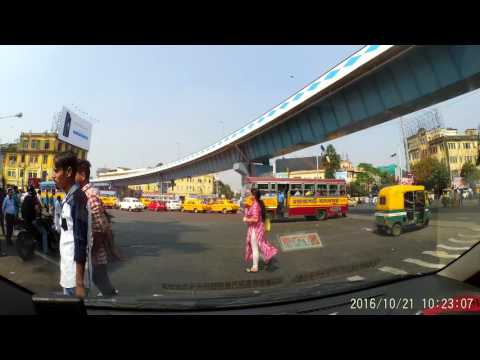 Kolkata : Park Circus Seven Point Crossing - Dash Cam Video (1080p 60fps)