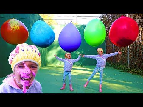 Slime con globos gigantes de colores Mystery balloon Las Ratitas